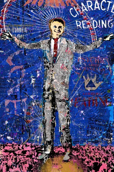 <i>The Candidate with Ferris Wheel</i>, inkjet on aluminum, limited edition